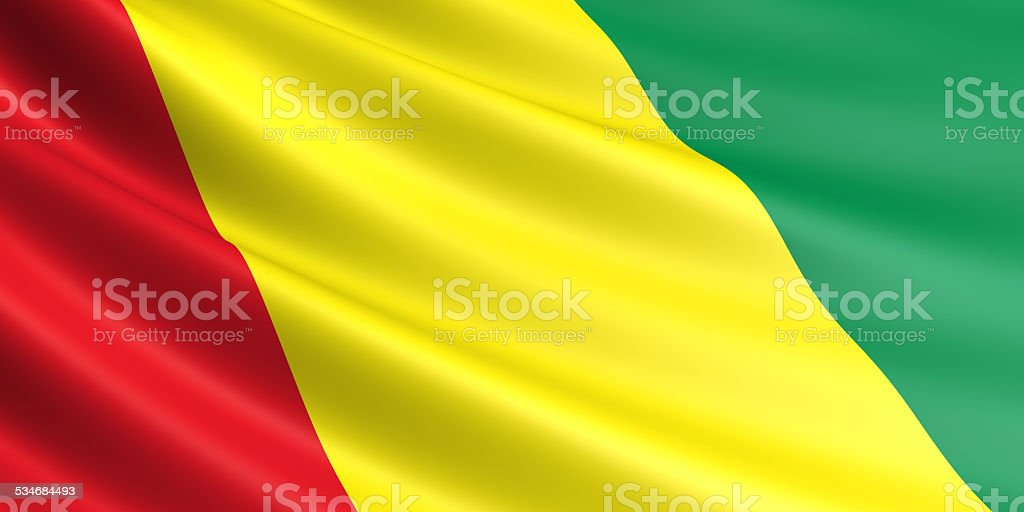 Guinea flag. royalty-free stock photo