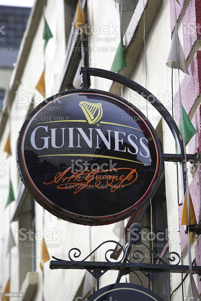 Guiness wall sign stock photo