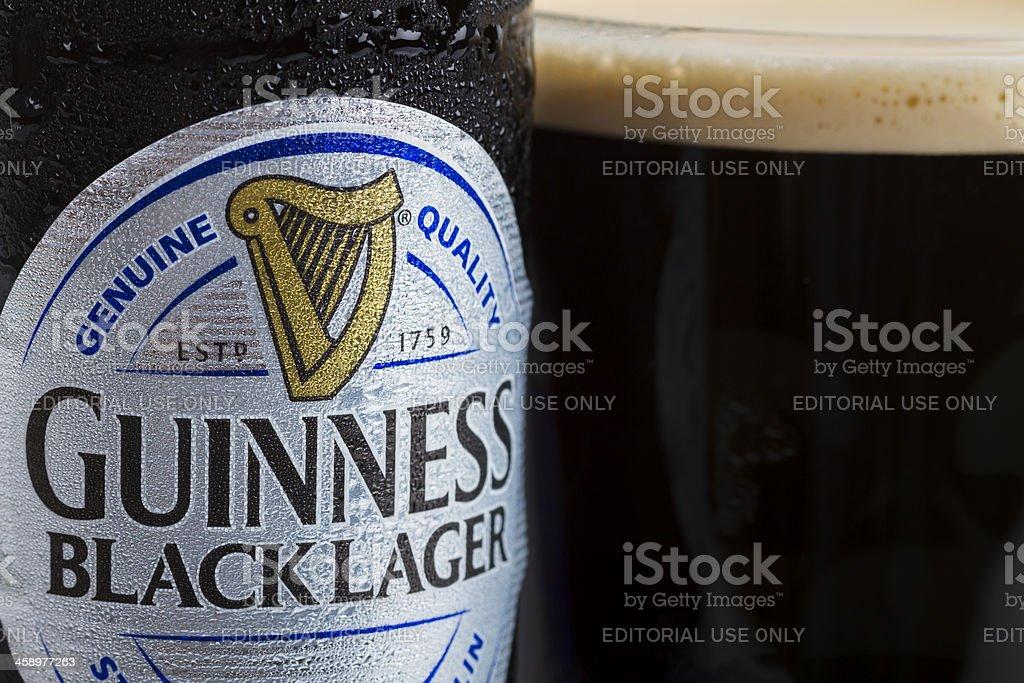 Guinness Black Lager stock photo