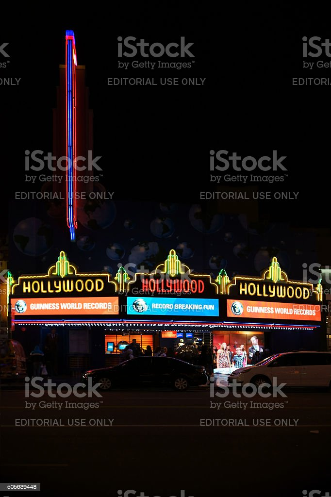 Guinness World Records Hollywood Boulevard stock photo