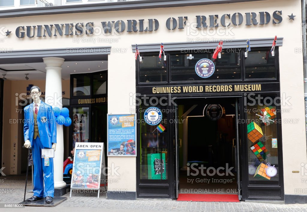Guinness world records museum stock photo