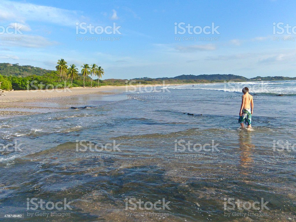 Guiones Beach Wading stock photo