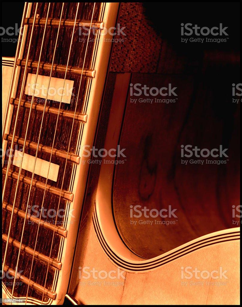 Guitar 3 stock photo