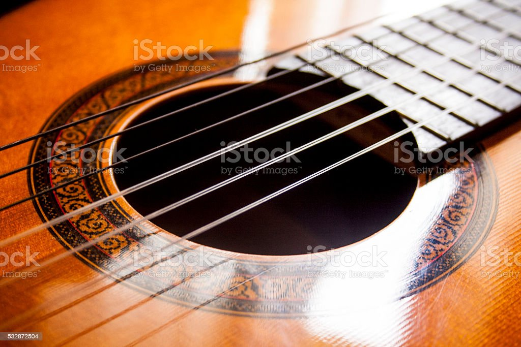 Guitar Acoustic stock photo