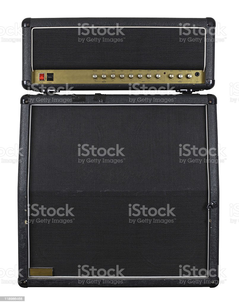 Guitar amplifier combo stock photo