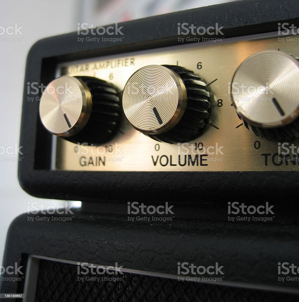 Guitar Amplifier Full Distortion stock photo