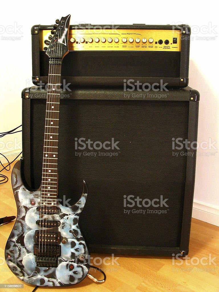 Guitar & Amplifier I stock photo