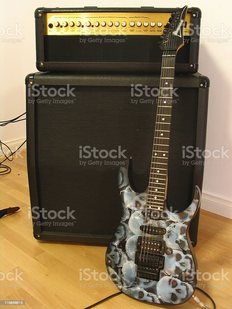 Guitar & Amplifier II stock photo
