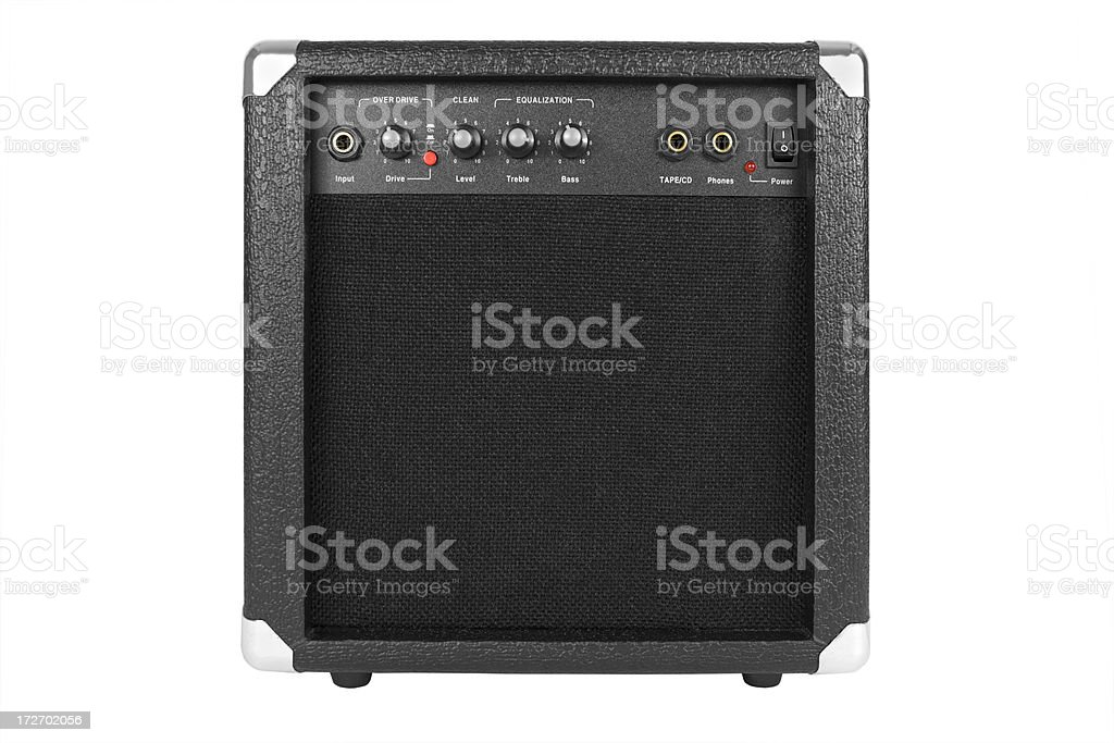 Guitar Amplifier Isolated with Clipping Path royalty-free stock photo