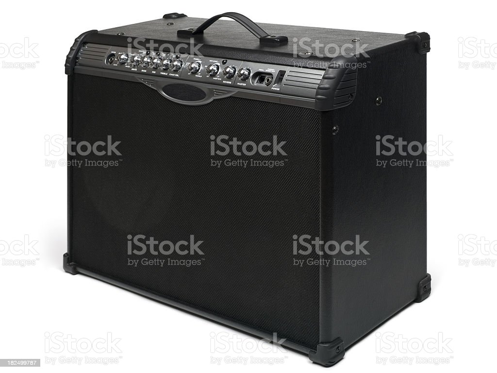Guitar amplifier royalty-free stock photo