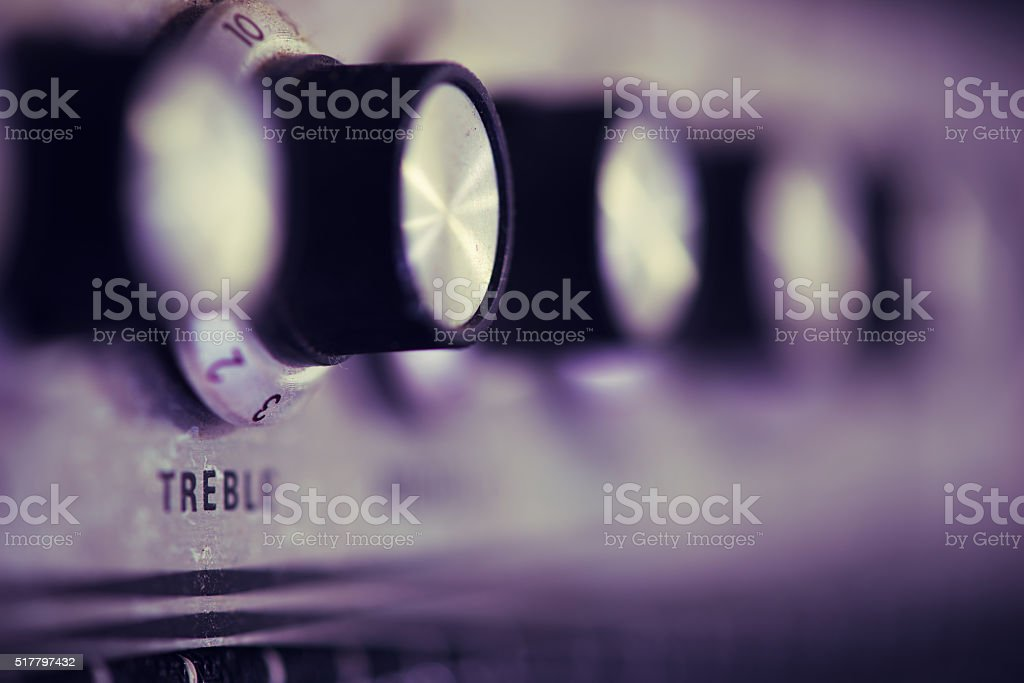 Guitar Amplifier Row of Knobs stock photo