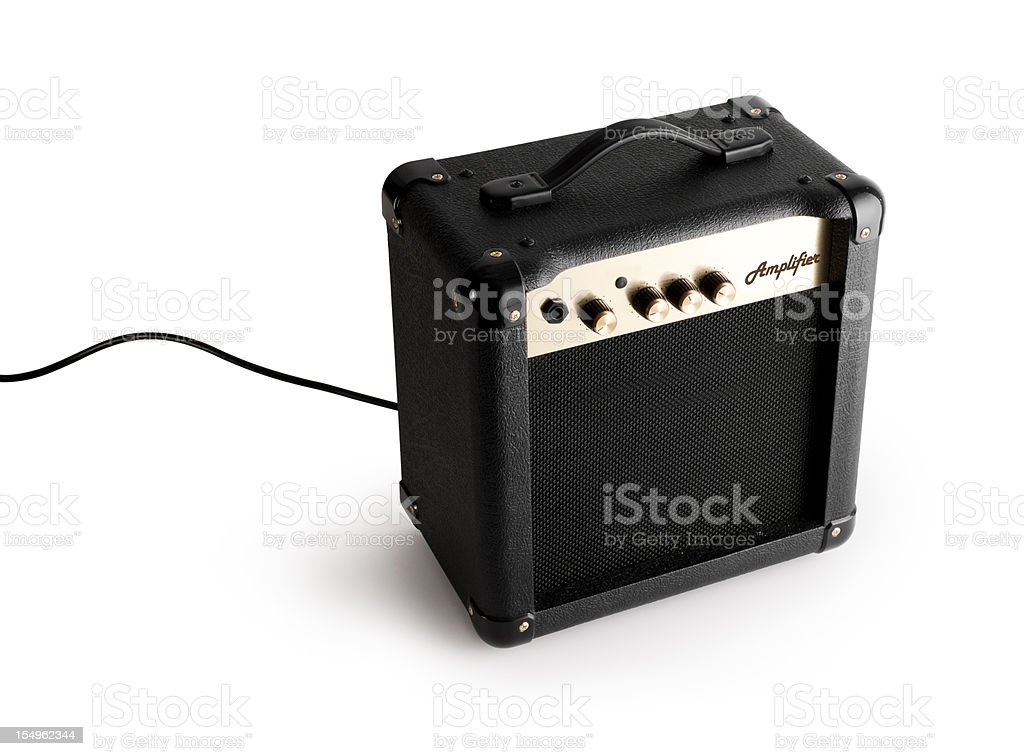 Guitar Amplifier with clipping path. royalty-free stock photo