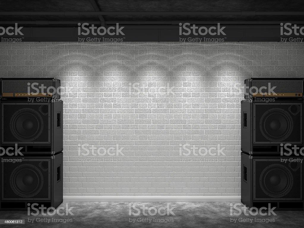 Guitar amps stock photo