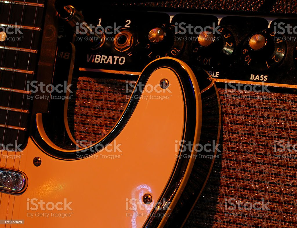 Guitar and amp royalty-free stock photo