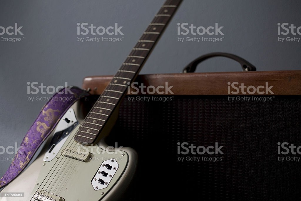 guitar and amp stock photo