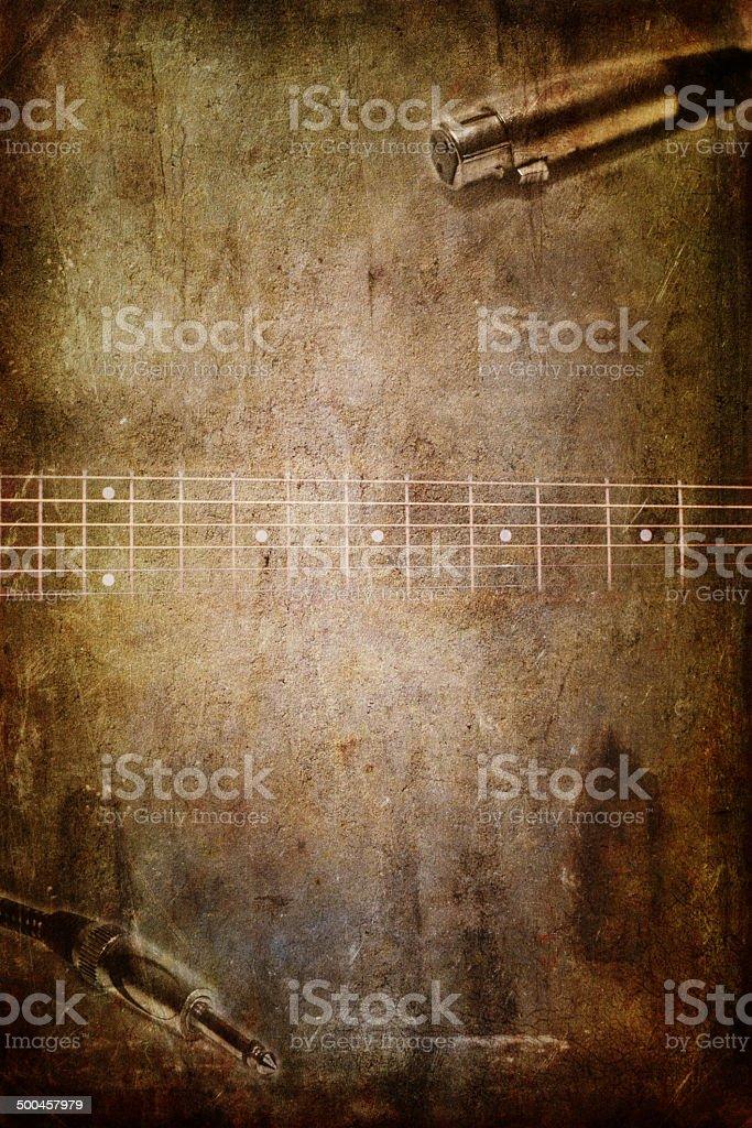 Гитара и микрофоны jack Стоковые фото Стоковая фотография