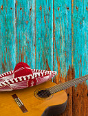 Guitar and Red Dress Sombrero