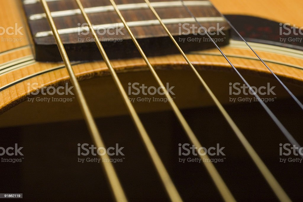 Guitar and Strings royalty-free stock photo