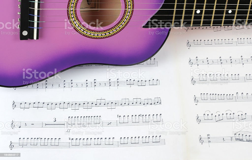 guitar and tune royalty-free stock photo
