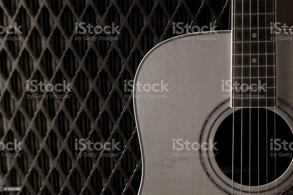 guitar body BW stock photo