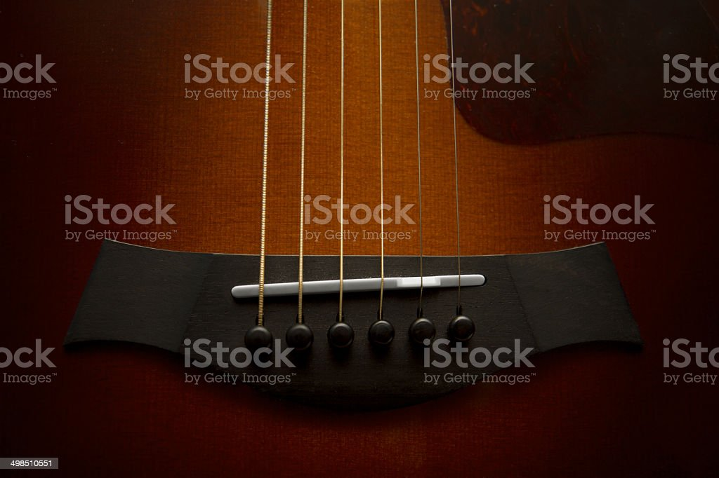 Guitar Bridge Detail stock photo