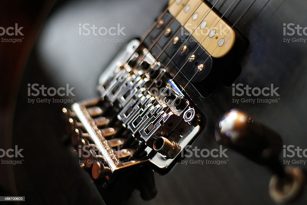 Guitar bridge stock photo