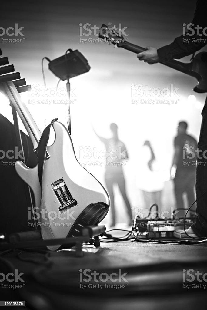 Guitar B&W stock photo