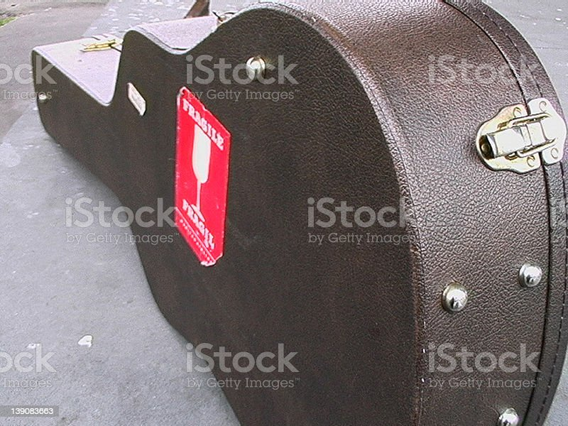 Guitar Case 01 stock photo