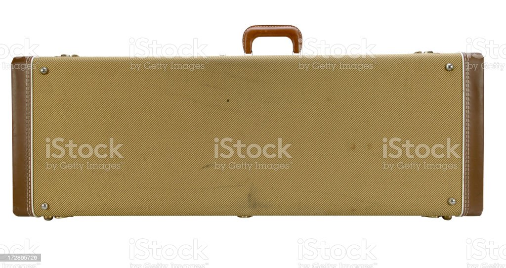 Guitar Case with Path stock photo