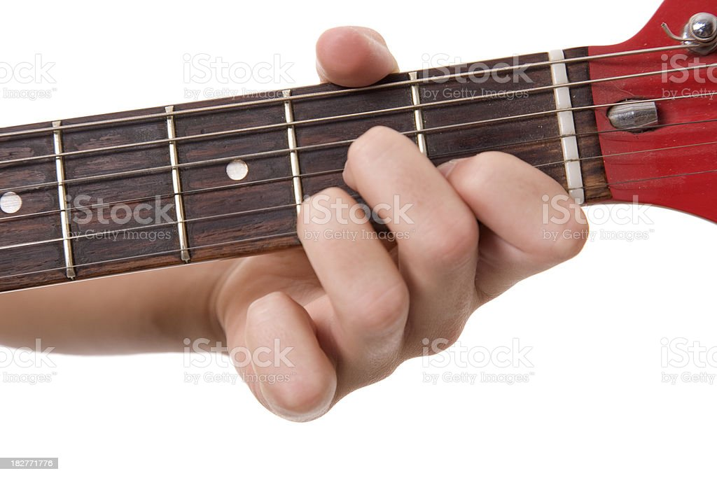 Guitar Chord D7 royalty-free stock photo
