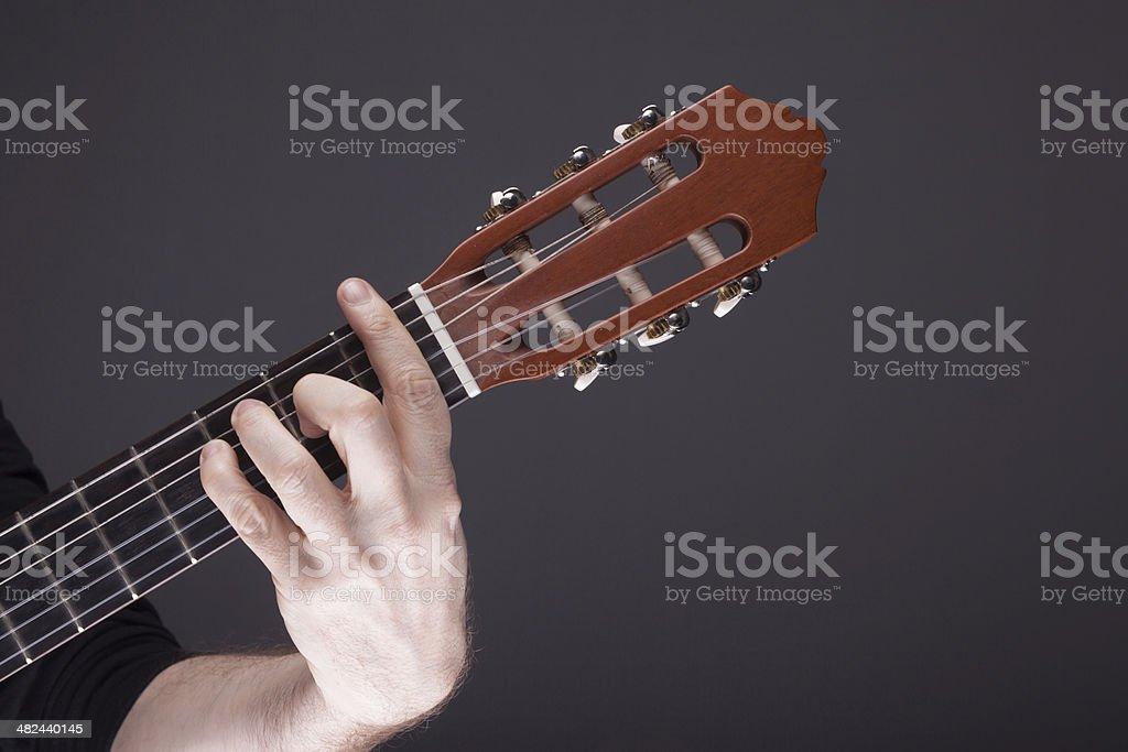 Guitar Chord F royalty-free stock photo