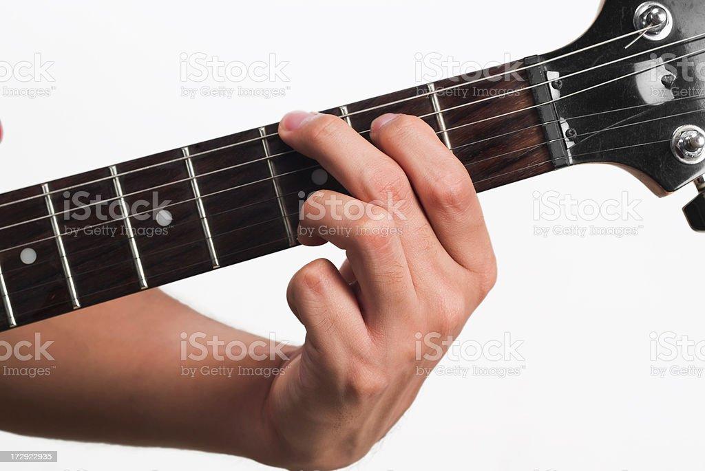 Guitar chord G royalty-free stock photo