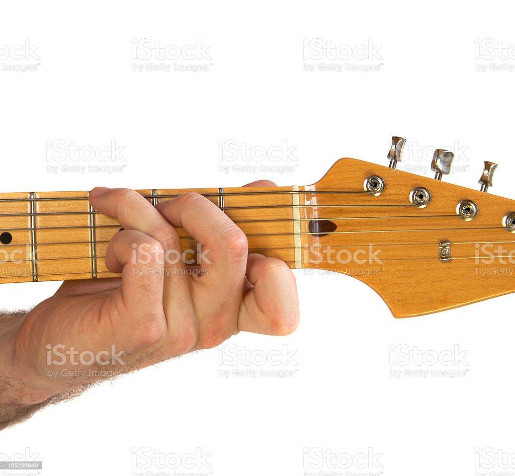 C7 Guitar Chord stock photo