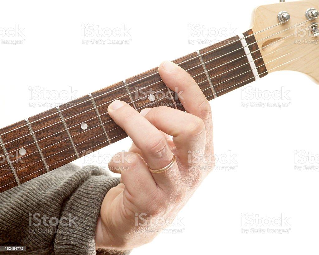 Guitar chords series, B minor 7th. royalty-free stock photo