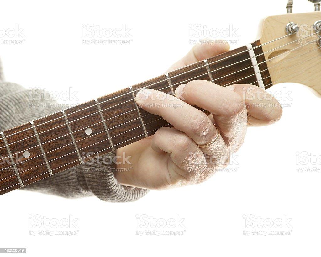 Guitar chords series, C major stock photo