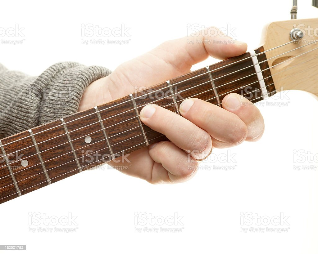 Guitar chords series, F major stock photo