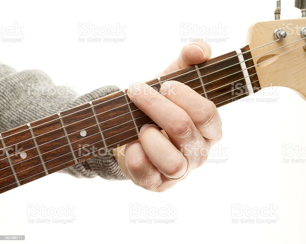 Guitar chords series, G major stock photo