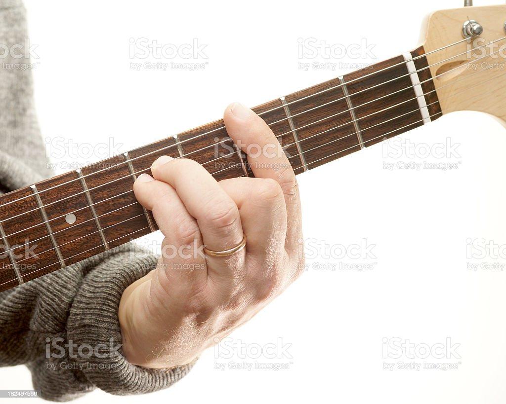 Guitar chords series, G minor stock photo