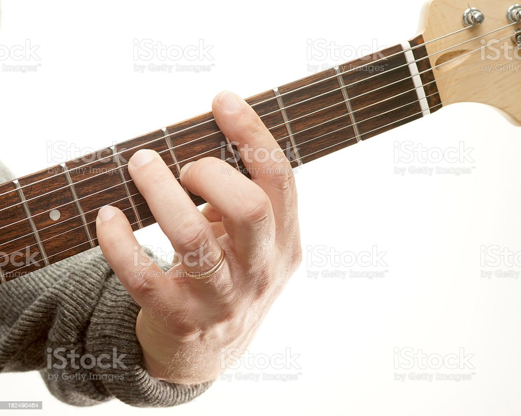 Guitar chords series. Movable seventh, G 7. royalty-free stock photo