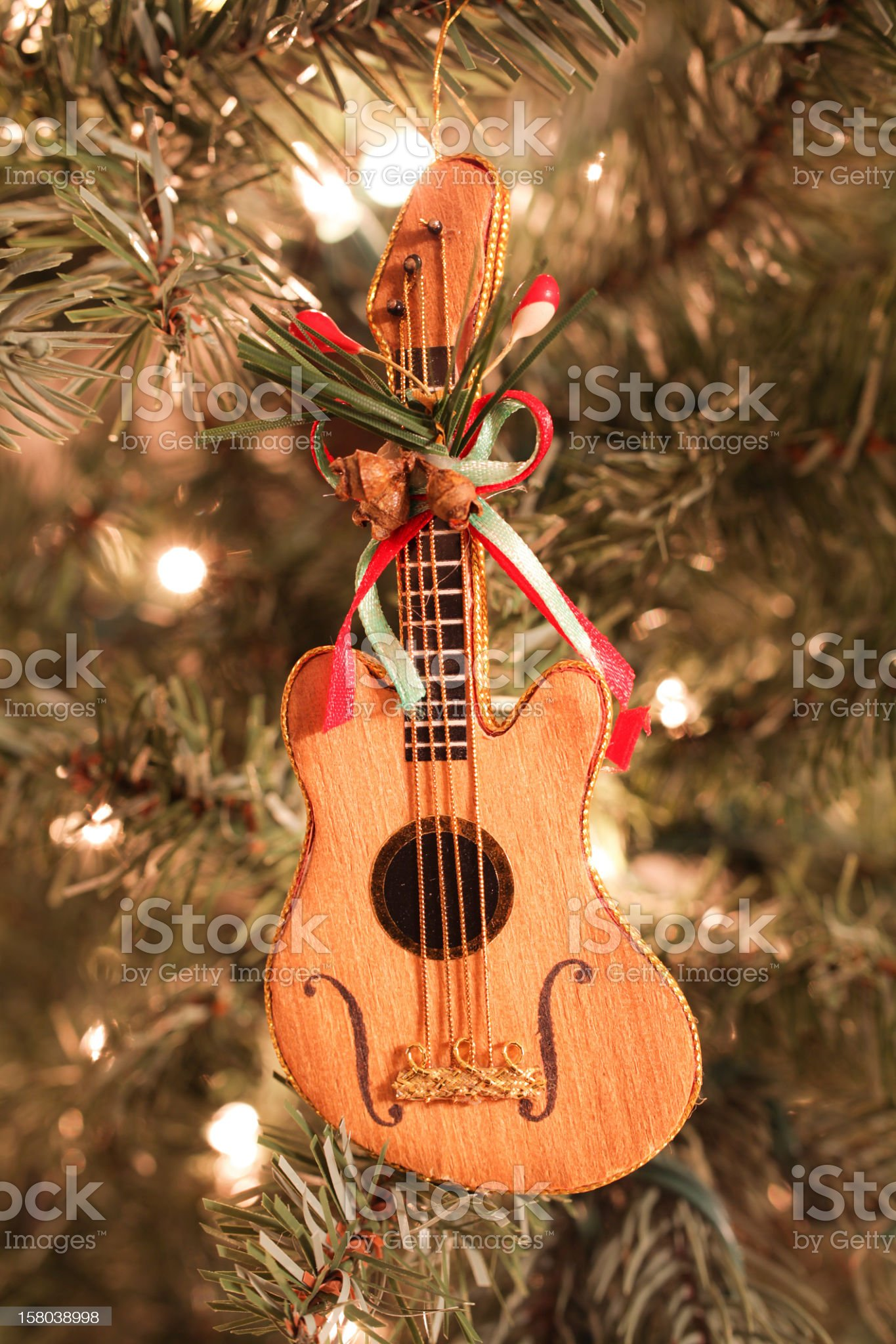 Guitar Christmas Ornament royalty-free stock photo