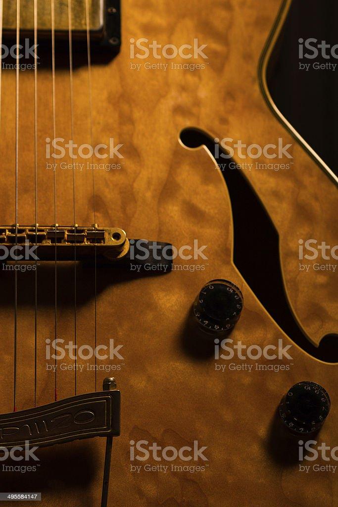 Guitar close-up stock photo