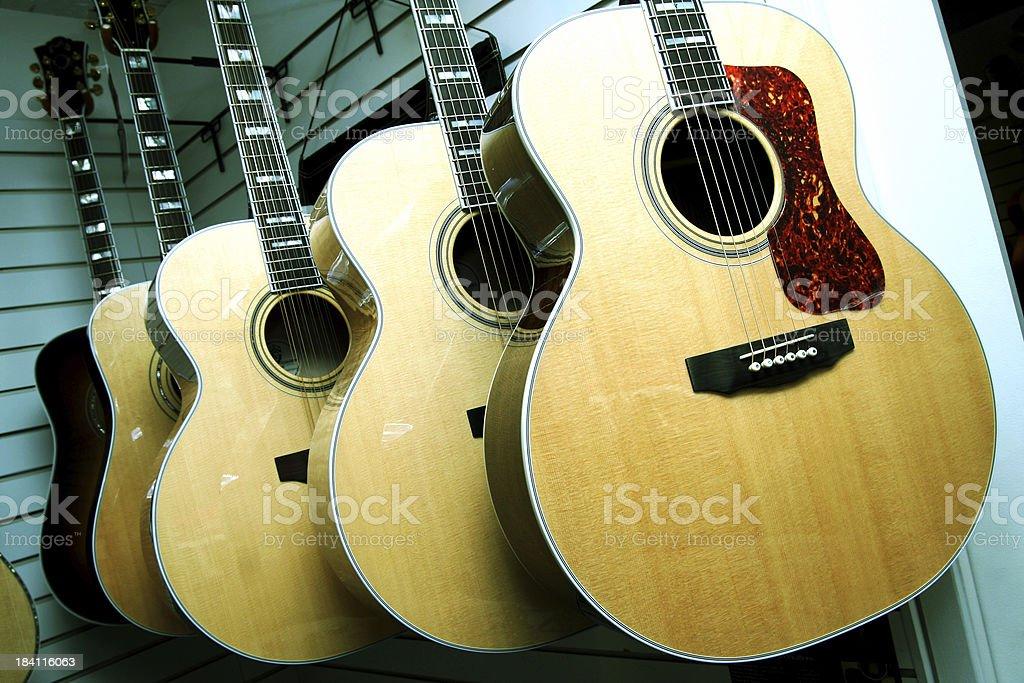 Guitar Display royalty-free stock photo
