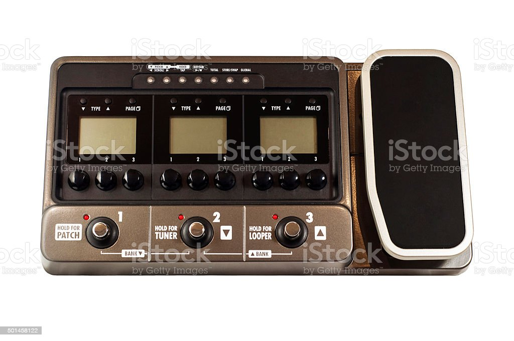 Guitar effects processor stock photo