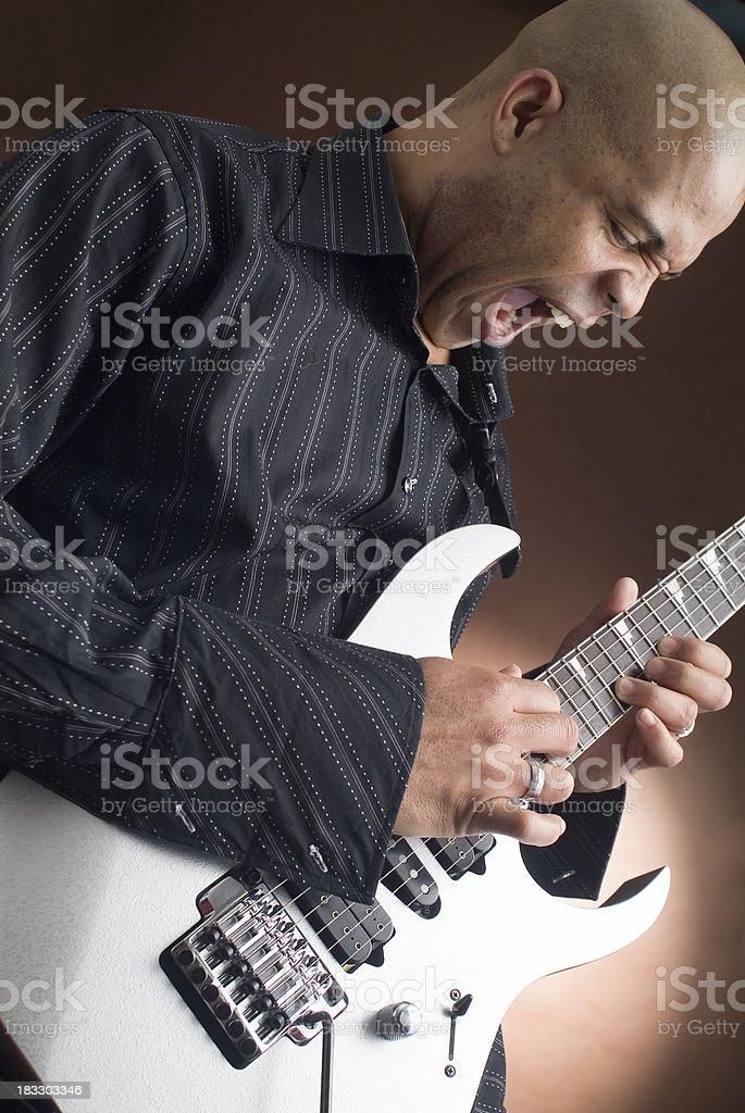 Guitar Face 2 stock photo