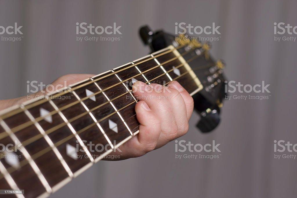 Guitar Fretboard royalty-free stock photo