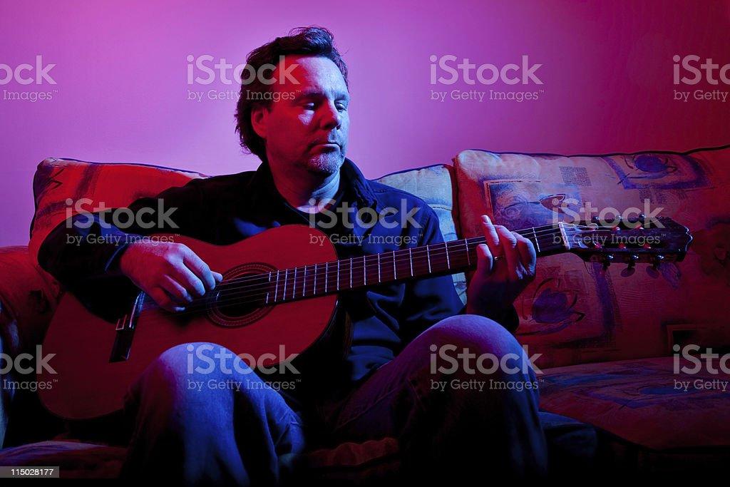 Guitar Guitarist Player Playing Musician Music stock photo