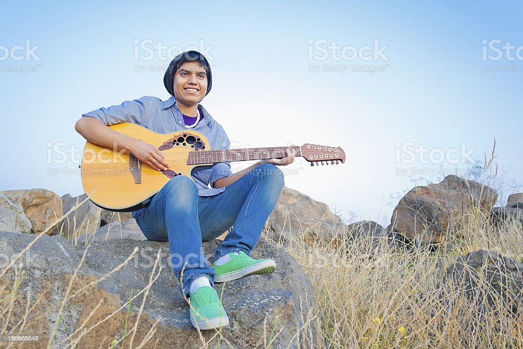 Guitar Guy royalty-free stock photo