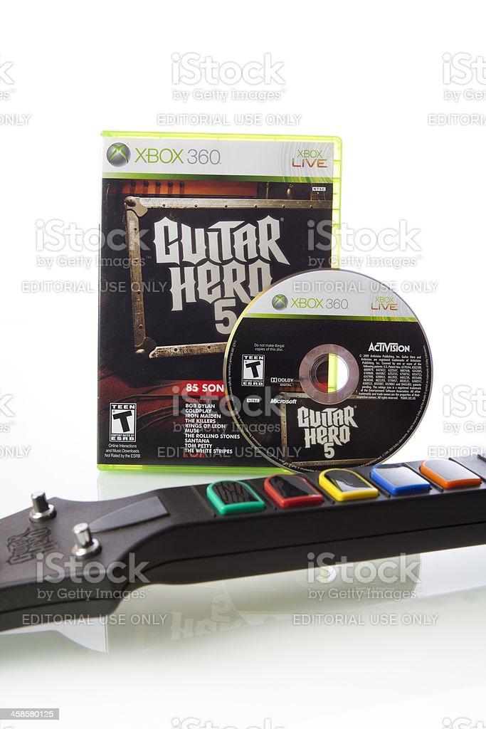 Guitar Hero 5 Xbox 360 Video Game stock photo