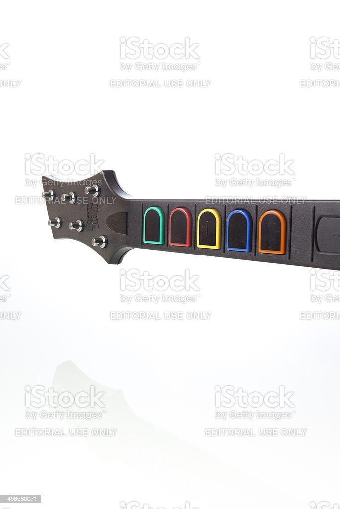 Guitar Hero controller stock photo