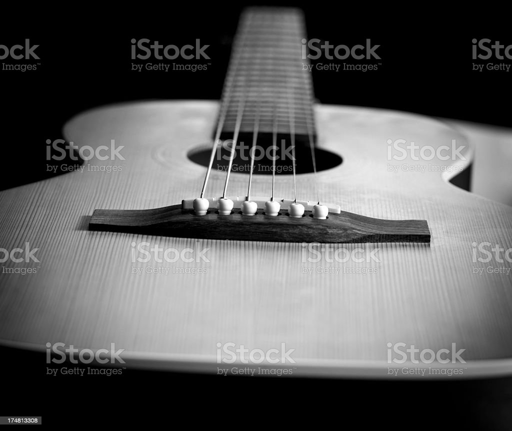 Guitar in Black and White royalty-free stock photo